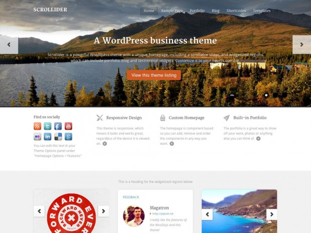 WooThemes Scrollider WooCommerce Themes