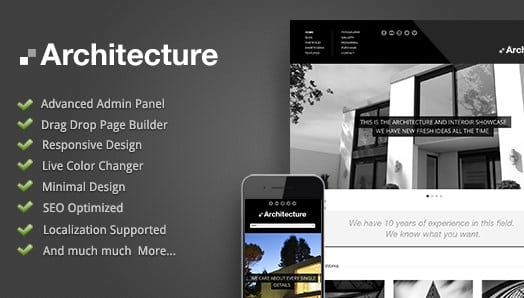 Architecture - WordPress Theme