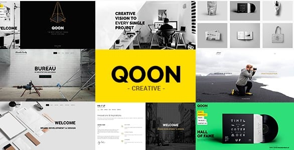 QOON - Creative Portfolio & Agency WordPress Theme