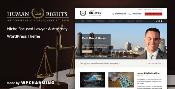 HumanRights - Lawyer and Attorney WordPress Theme