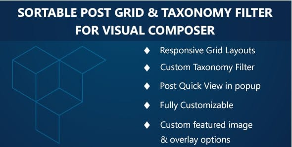 Visual Composer - Sortable Grid & TaxonomyFilter