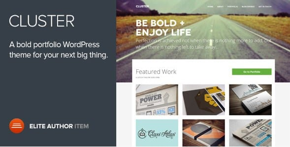 Cluster - A Bold Portfolio Wordpress Theme