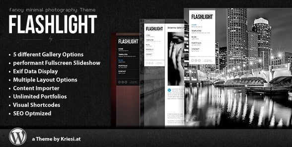 Flashlight - Fullscreen Background Portfolio Theme