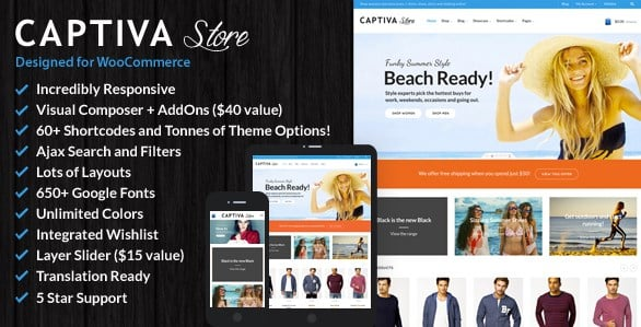 Captiva - Responsive WordPress WooCommerce Theme