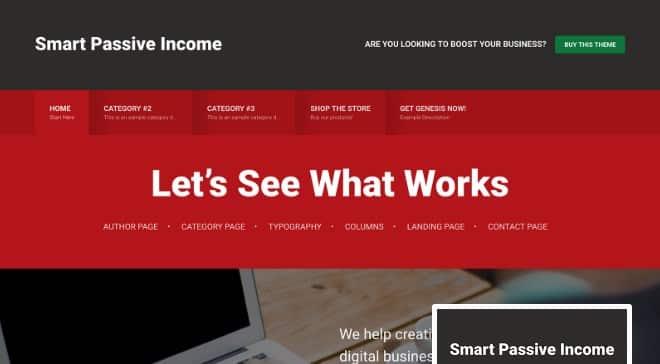 StudioPress Smart Passive Income Pro Theme