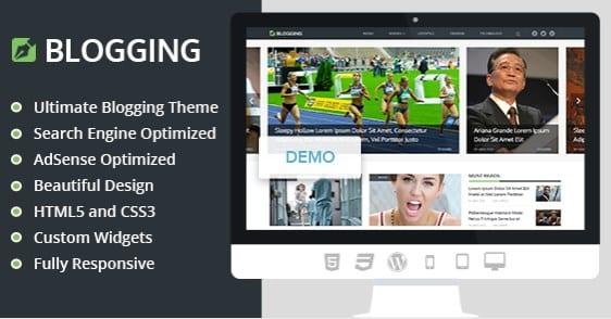 MyThemeShop Blogging WordPress Theme