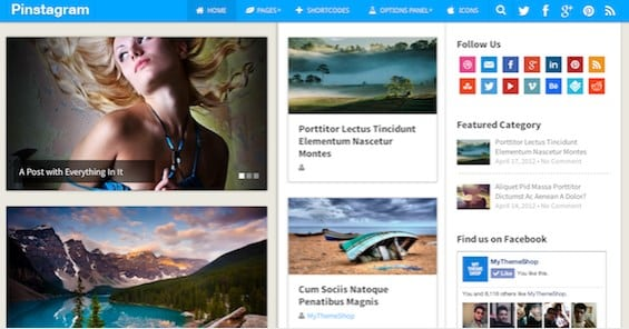MyThemeShop Pinstagram WordPress Theme