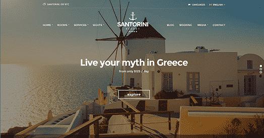 CSS Igniter Santorini Resort WordPress Theme