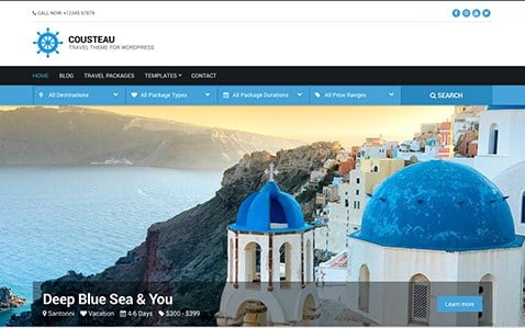 CSS Igniter Cousteau WordPress Theme