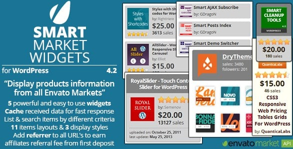 Smart Market Widgets Wordpress Plugin