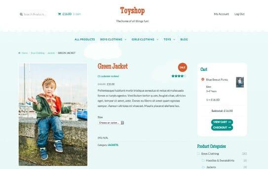 WooThemes Toyshop Storefront WooCommerce Theme
