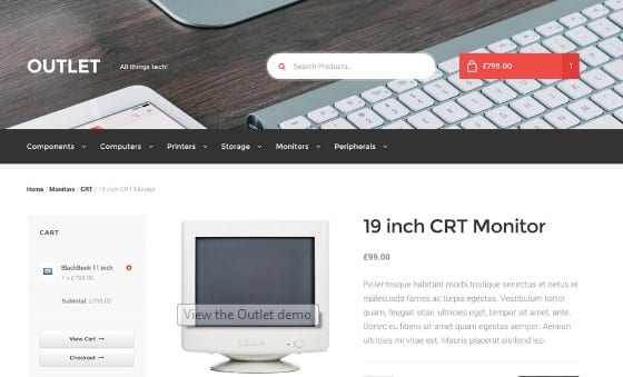 WooThemes Outlet Storefront WooCommerce Theme