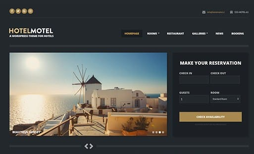 CSS Igniter HotelMotel WordPress Theme