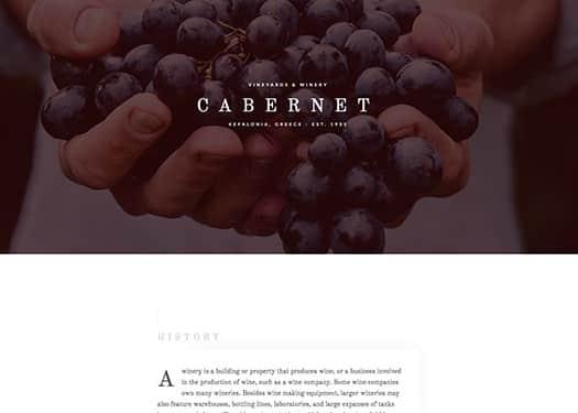 Elementorism Cabernet Landing Page