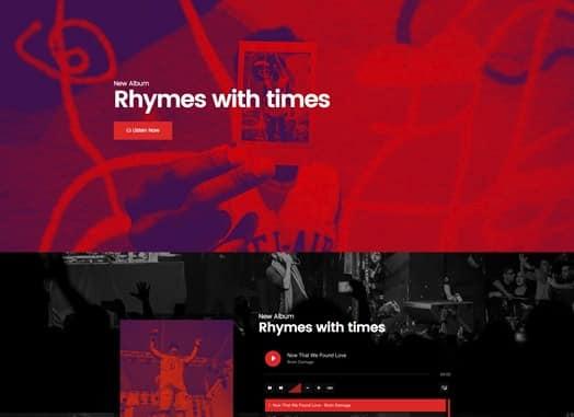 Elementorism Rhymes Landing Page