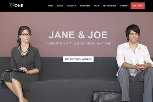 CyberChimps One Page Business Pro WordPress Theme