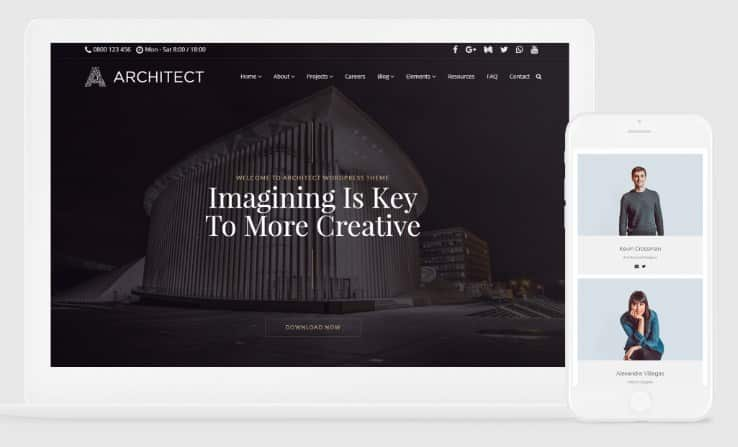 VisualModo Architect WordPress Theme