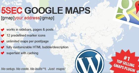 5sec Google Maps Wordpress Plugin