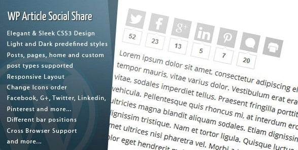 Wordpress Article Social Share