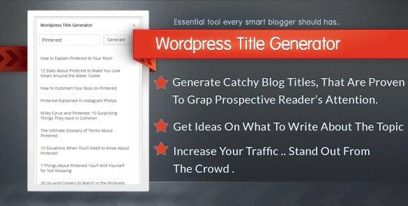 WordPress Title Generator