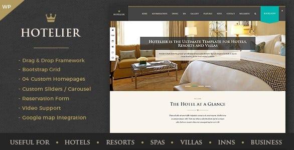 Hotelier - Hotel & Travel Booking WordPress Themes
