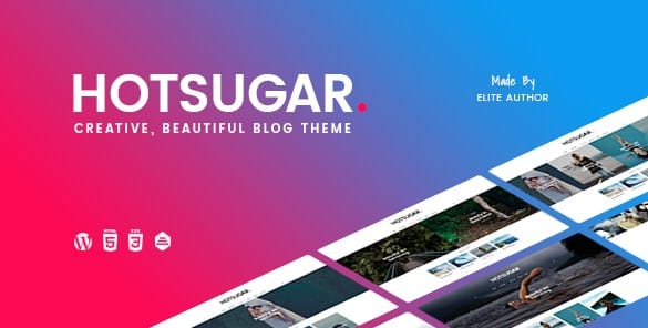 HotSugar - Responsive WordPress Blog Theme
